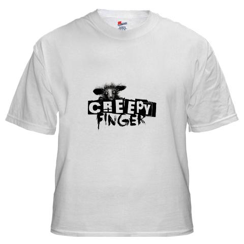Creepy Finger Records Aye Aye T-Shirt Clothing