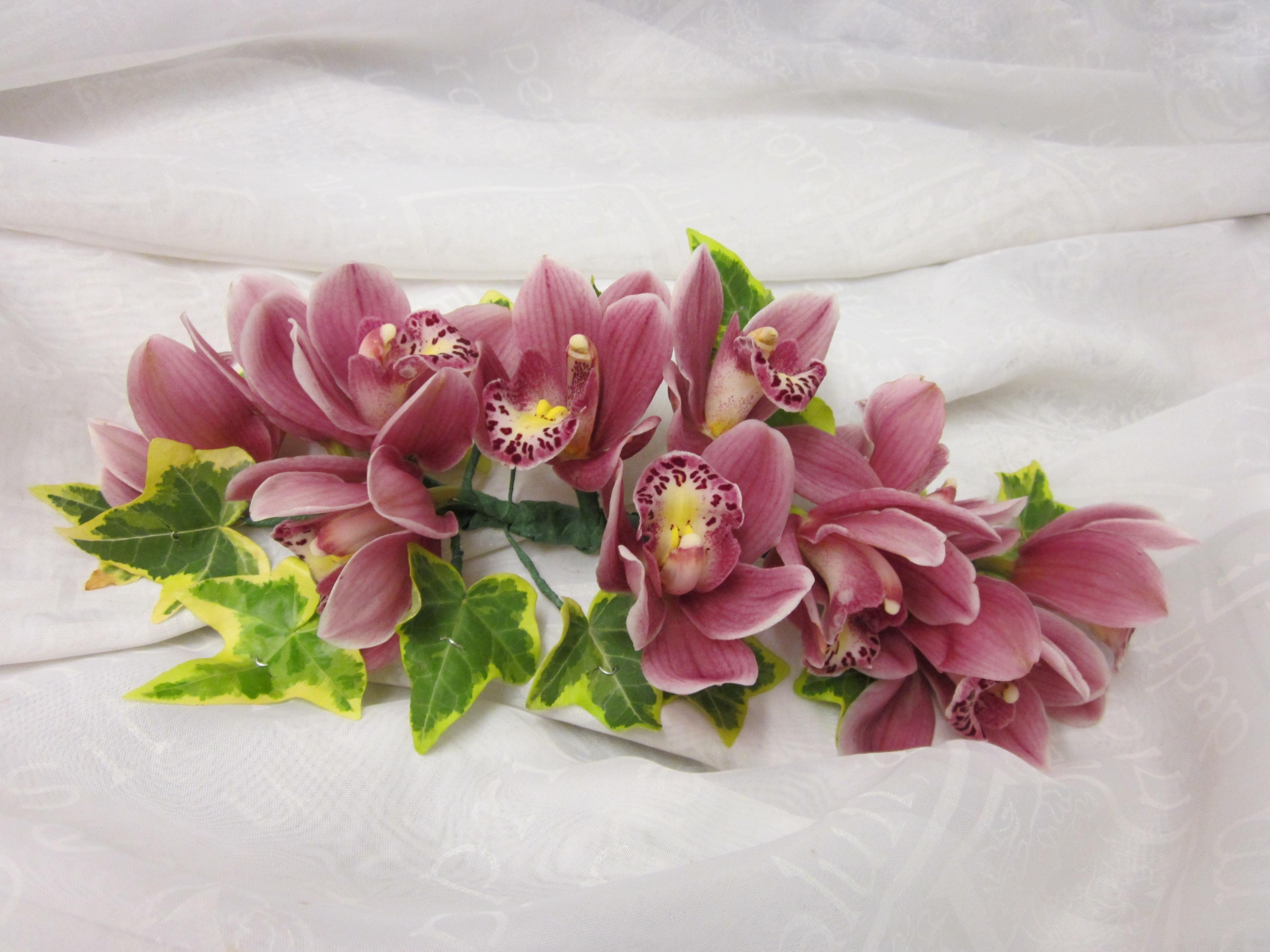 Orchid Cymbidium Corsage