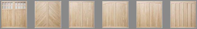 A few of the Timber garage door range
