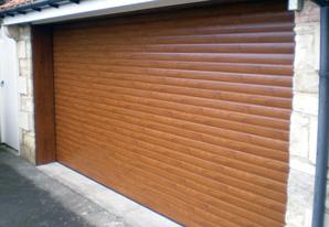 Golden Oak Roller Garage Doors