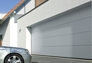 Off white sectional garage door