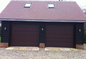 Rosewood twin 7/7ft roller garage doors